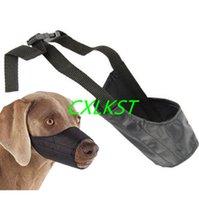 Wholesale Dog muzzle muzzel pet puppy safety mouth cover adjustable stop bit chew bark nip Brand New