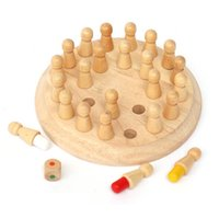 Wholesale Six color memory chess wooden quality early childhood parent child chess board game chess Children educational toys
