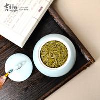 Wholesale Chinese ceramic porcelain tea caddy boutique seal caddy handmade craft artful decoration tea holder