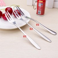Wholesale New Arrivals Cake Fruit Dessert Forks Flatware Stainless Steel Size CM Styles JA100