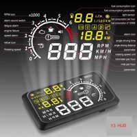Wholesale X3 Car HUD Alarm System Head Up Display KM h MPH Speeding Fuel Warning Windshield Project Car Detector OBD Interface Universal