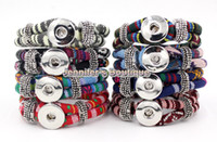 Wholesale New Arrival Colors Classic Noosa Chunks Snaps Jewelry Bracelet Ethnic Style Cotton Rope Ginger Snaps Jewelry