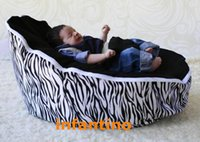 Wholesale ZEBRA BLACK SEAT colorfull Baby Bean Bag soft baby beanbag seat and chair washable new arrived baby beanbags