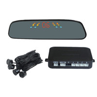 Wholesale Car LED Parking Reverse Radar LED Parking Sensors Car Reverse Backup Radar Kit Human Voice order lt no track