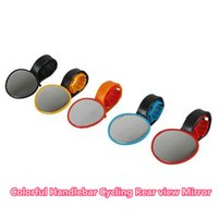 bike reflectors - Electric bicycle Mountain bike rear view mirror unbreakable reflector handlebar side mirror to sport bicycles bikes Z00197