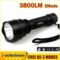 Wholesale LED Hunting Flashlight Torch Cree Led Torch C8 Cree light lantern nitecore Waterproof High Power For x18650 Hiking Camping