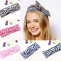 Wholesale color selectable Baby girls striped color Top Knot Headband Baby Bow Knot Knotted Headband Fashion Hairband Baby Hair Accessories