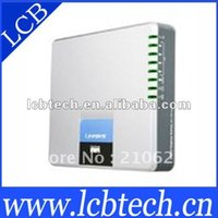 Wholesale Unlocked with high quality resonable price Linksys SPA Internet SIP VoIP phone adapter gateway with FXO