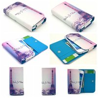 Leather apple iphone live - General Flower Eiffel Tower Wallet Leather For Samsung Glaxy Note S6 S5 S4 Iphone S Plus S S C Live Life Handbag Pouch Skin