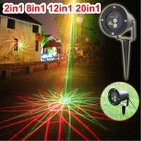 Wholesale Remote Controller in1 in1 christmas Outdoor IP65 waterproof Laser stage light in1 in1 lighting red green firefly show projector lights