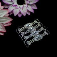 Wholesale 100pcs White color Serviette Holder Wedding Party Dinner Decor Hot Color Diamante Napkin Ring