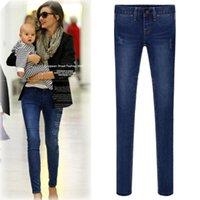 wholesale blue jeans - New Blue Jeans for women Ladies s Casual Pencil Jeans Denim Slim Figure Giirls Denim Trousers