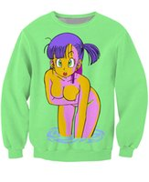 animate jumpers - Bulma Sweatshirt vibrant jumper favorite animated show Dragon Ball Z Characters Cartoon Sweats Women Men Outfits Hoodies