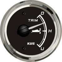 Wholesale 52mm black faceplate Trim gauge boat gauge ohm stainless steel for the inboat yacht
