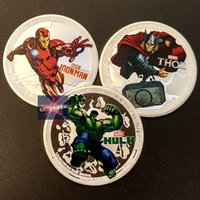 american coin collection - Mix Hollywood Marvel avenger challenge collection iron man thor hulk silver plate American coins set