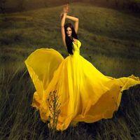 al por mayor vestido de la correa de espagueti del cordón de color amarillo-Vestido de noche amarillo atractivo de las correas de espagueti de la blusa del cordón del cordón de la venta caliente Vestido de noche 2016 de la gasa del amor de la caída 2016 Vestido de Festa