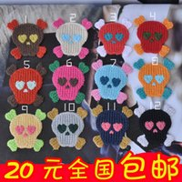 Wholesale Fabric clothes embroidery patch applique badge corsage skull epaulette personalized applique