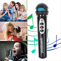 Wholesale 2015 High Quality Modern Girls Boys Microphone Mic Karaoke Singing Kid Funny Gift Music Toy children simulation microphone black