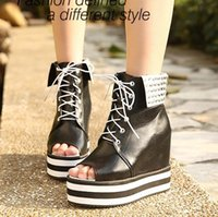 ankle cuff sandals - Peep Toe Cuffed Rhinestone High Heel Wedge Platform Womens Ladies Sandals US