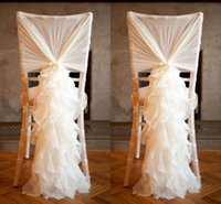american navy ships - Ruffled Ivory Chair Covers For Weddings D Chiffon Delicate Wedding Banquet Decorations Chair Sashes
