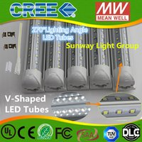 Wholesale V Shaped Led Tubes T8 Integrated Led Tubes Double Sides SMD2835 Led Fluorescent Lights AC V UL SAA Integrated led tubs
