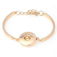 Wholesale Hot Sale Lobster Clasp Ginger Snap Button Bracelet Bangles Jewelry fit Women Men DIY Snaps Button Bracelet B383