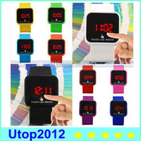 Cheap Casual Touch Screen LED watch Best Unisex Auto Date Unisex Silicone Watch