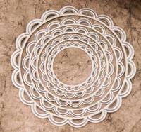 Wholesale Scrapbook Set Metal cutter dies Etching dies Cutting Die Cutter Round lace dies DM