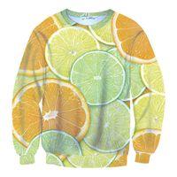 berry slim - 2015 Harejuku sweatshirt FunnyFood Printed D Sweatshirt Lemon Berries Banana Candy Watermelon Galaxy Hoodies feminino moletom