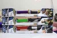Wholesale Star Wars Lightsaber Weapons Cosplay Sword with Light Sounds PVC Action Figure kids Toys Christmas Gifts colors