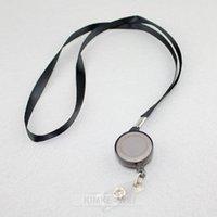 badge cord - Black Retractable Lanyard Reel Nylon Cord for ID Card Key Badge Holder New