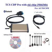 Wholesale V R2 Diagnostic tool TCS CDP Pro Plus OKI CHIP Bluetooth for Cars Trucks OBD2 Scan Tools Full car cables