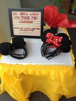 Cheap Mickey Mouse and Minnie Mouse headband Children party Minnie Mouse Ears Baby Hair Accessories Red Bow kid birthday Girl Headwear