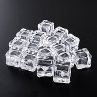 acrylic display cubes - Clear Square Fake Artificial Acrylic Ice Cubes Crystal Home Display x2CM Decor artificial cubes151209