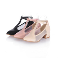 mary jane - Womens T Strap Bars Vintage mary Jane Pump Shoes Chunky Heel Fashion Shoes New