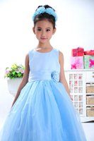 brand fashion t-shirt - 2015 New Wedding flower girl dresses fashion princess dress brand of high purity cotton children s clothing girls dress
