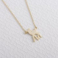 baby deer for sale - Hot Sale Gold Silver Baby Deer Necklace Long Necklace deer Baby every day Pendant Sweet Jewelry Fashion for women