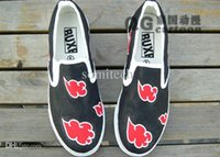 acrylic painting clouds - Naruto cosplay Akatsuki shoes DIY Painted red Clouds