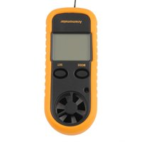 anemometer cfm - 1pc Digital LCD CFM CMM Thermo Anemometer Infrared Thermometer For Wind Speed Gauge Meter Temperature