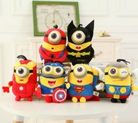 toys lots - Children Plush Toys The Avengers Kids Stuffed Toys Despicable Me Minions Cartoon Plush Dools For Child Four Color Height CM K328