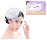 Wholesale 12pcs Ladies Hair Ornament Gauze Hairband Hairwear With Crystals Beads Wedding Bridal Jewelry Headdress jt120