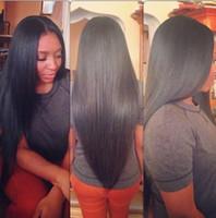 malaysian lace wigs - Glueless full lace human hair wigs for black women indian malaysian peruvian brazilian virgin hair straight lace front wigs density B
