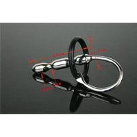 male urethral stretching - Urethral Catheter Penis Massager Stainless Steel Male Chastity Catheter Chastity Device BDSM Urethral Stretching mm Penis Plug CF030302