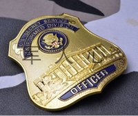 big lighting services - The United States service big metal badge insignia on the waist part