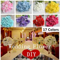amazing birthday decorations - 25pcs luxury artificial Hydrangea silk flower Amazing colorful decorative flower for wedding party Birthday decoration
