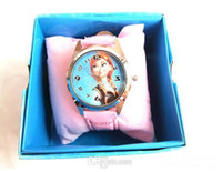 Precio de Gifts-Congelado CONGELADO Anna Elsa reloj Conjuntos y monedero de la cartera Kids Fashion Relojes hijos CONGELADOS Caja de reloj de pulsera de regalo de cumpleaños de los niños