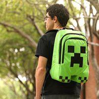 Wholesale NEW Minecraft backpack game creeper backpack children school bags boys mochila double shoulder bag block coolie kids school bag