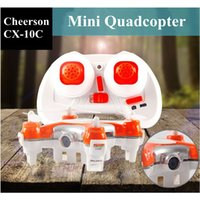 Wholesale Interesting Gift Original Cheerson CX C CX10C Mini Drone Pocket Quadcopter Axis Gyro RTF MODE2 With MP Camera And LED