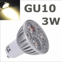 Wholesale 6pcs non dimmable W GU10 led High Power gu10 led Lamp White gu10 led spotlight led