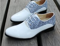 studded shoes - 2015 new male personality leisure fashion trends of commercial studded leather shoes white wedding shoes
